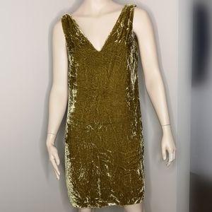 French Connection Crushed Velvet V-neck Dress